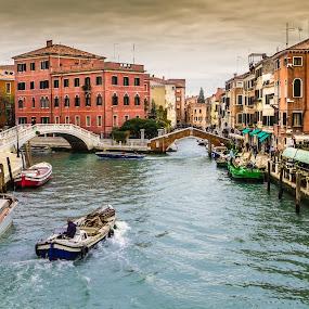 Venice by Oguz Sevim - City,  Street & Park  Historic Districts ( canals, venice canals, venice, venice italy, italy )
