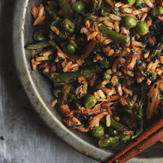 Spring Veggie Fried Rice with Ramps + Kimchi {print me!}