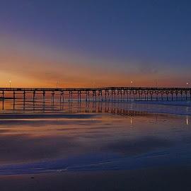 Ocean Crest Pier N Carolina by Bud Schrader - Landscapes Beaches