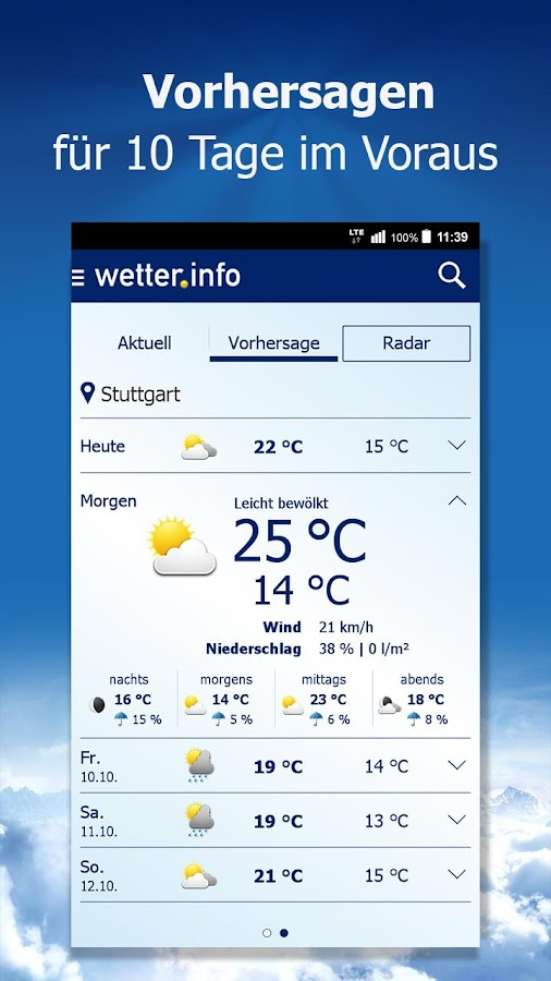 wetter.info Screenshot 4