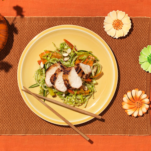 Grilled Chicken Teriyaki With Udon Noodle Salad