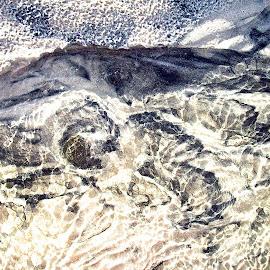 dueling swirls by Rachel Rachel - Abstract Patterns ( sand, movement, tide, iron sand, black sand, white sand,  )