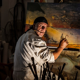 Painter by Rado Krasnik - People Portraits of Men ( studio, artist, painter, painting, portrait )