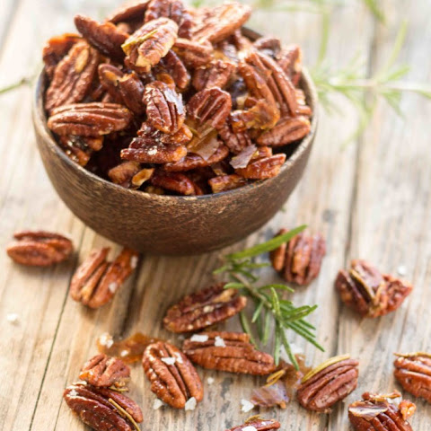Rosemary Maple Roasted Pecans