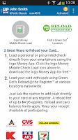 Screenshot of UPside Card