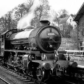 by Martin Tyson - Transportation Trains ( north yorkshire moors, engine, track, heritage, historic, 62005, grosmont, railway, yorkshire, transport, locomotive, nymr, train, steam )