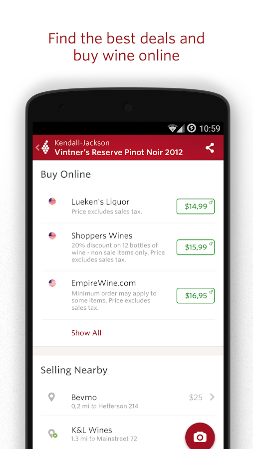 Vivino Wine Scanner Screenshot 2