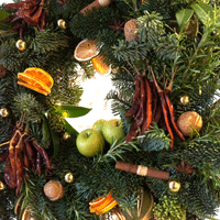 Rosemary Shrager Cookery School door wreath - The Florist Tunbridge Wells
