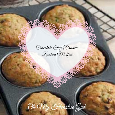 Healthy Low Fat Chocolate Chip Banana Zucchini Muffins