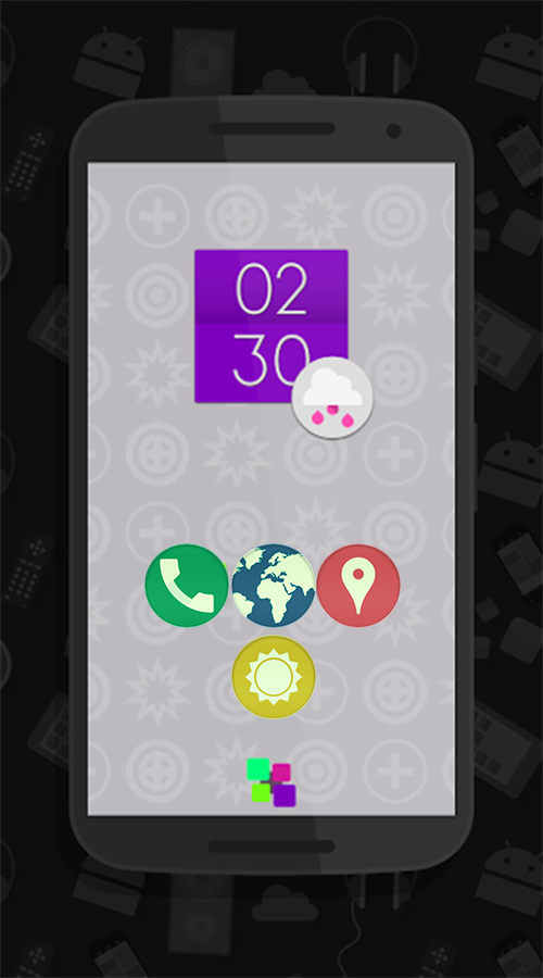 Lotte UI - Flat Round Icons Screenshot 0