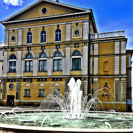 Croatian National Theatre with a fountain-Varazdin by Alka Smile - Buildings & Architecture Public & Historical