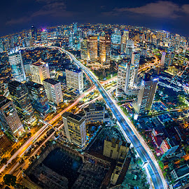 by Hade Hartono - City,  Street & Park  Street Scenes ( city at night, street at night, park at night, nightlife, night life, nighttime in the city )