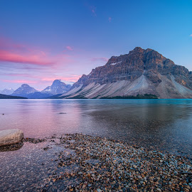 Bow Lake by Nick Johnson - Landscapes Travel ( canada, sunset, rockies, banff, bow lake )