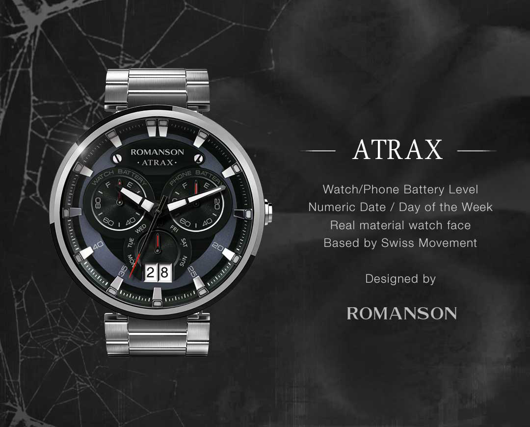 Atrax watchface by Romanson Screenshot 6