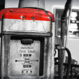 fuel by Lainie Saurbeck - Artistic Objects Antiques ( gas, old, gas pump, pump, fuel )