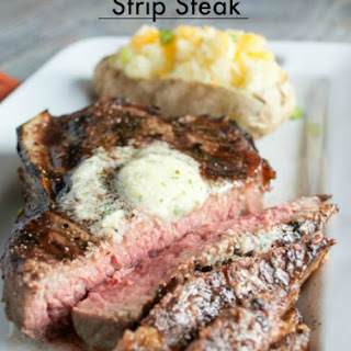 Strip Steak with Compound Butter