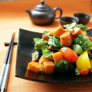Spiced Yam and Vegetable Stir Fry