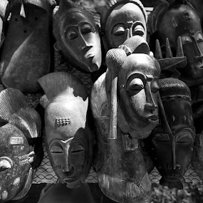 Wood Masks by Michael  Kitchen - Artistic Objects Antiques
