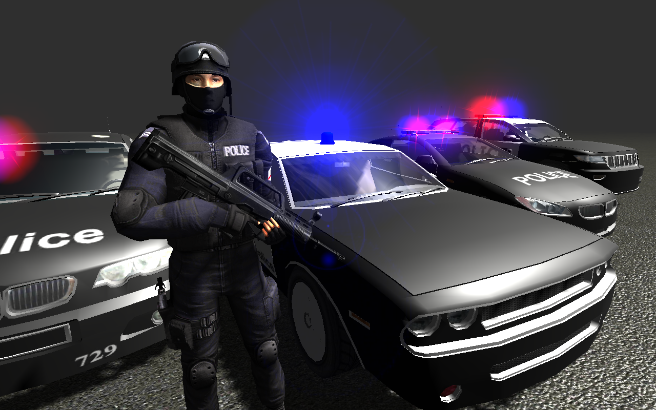 In Car Police Screenshot