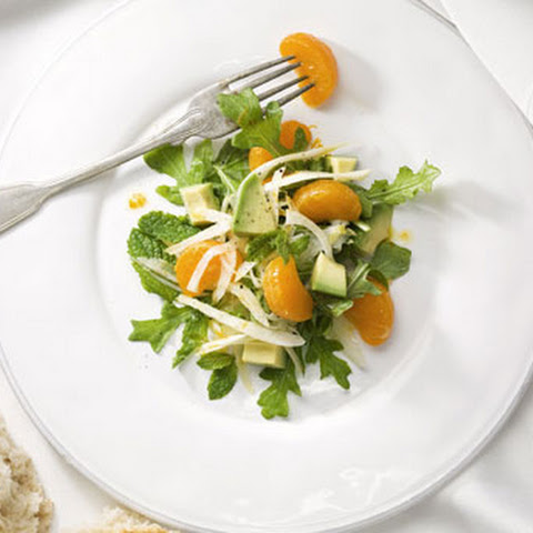Fennel, Avocado, and Clementine Salad with Arugula and Mint