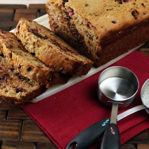 Pomegranate Chocolate Chip Banana Bread