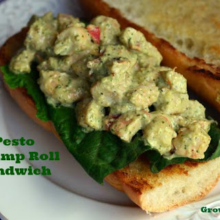 Pesto Shrimp Roll Sandwiches #SundaySupper