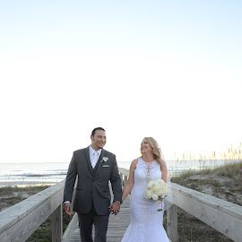 Happiness by Michelle J. Varela - Wedding Bride & Groom