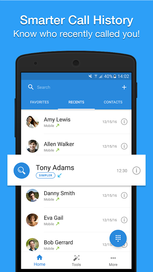 Contacts & Dialer by Simpler Screenshot 1