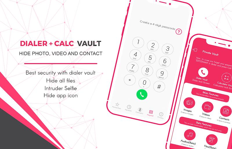 Dialer + Calc Vault - Hide Photo, Video & Contact Screenshot 0