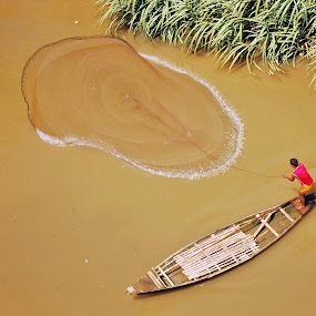 FISHING FOR LIVING by Maroof Rana - People Portraits of Men (  )