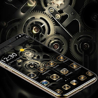 Gold Black Luxury Gears Theme on PC / Windows 7.8.10 & MAC
