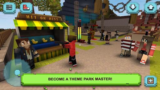 Theme Park Craft: Build & Ride screenshot 1