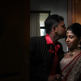Sealed Kiss by Achira Liyanage - Wedding Bride & Groom