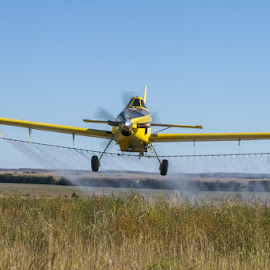 Blowing by by Jim Talbert - Transportation Airplanes ( flying, ag pilot, action, agriculture, nebraska, crop duster, spray plane )
