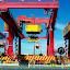 Container Crane by Mark Zouroudis - Products & Objects Industrial Objects ( red, container crane, crane, big, large,  )