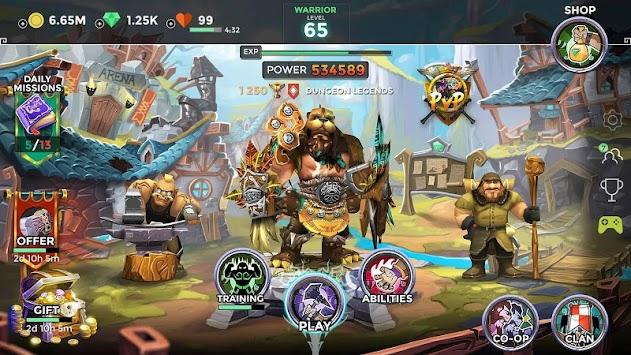 légendes du donjon apk screenshot