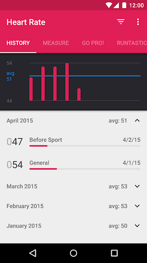 Runtastic Heart Rate Monitor & Pulse Checker screenshot 2