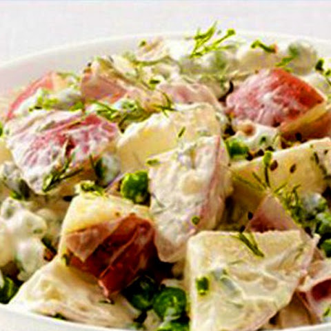 Salad With Potatoes And Green Peas, Easy And Light