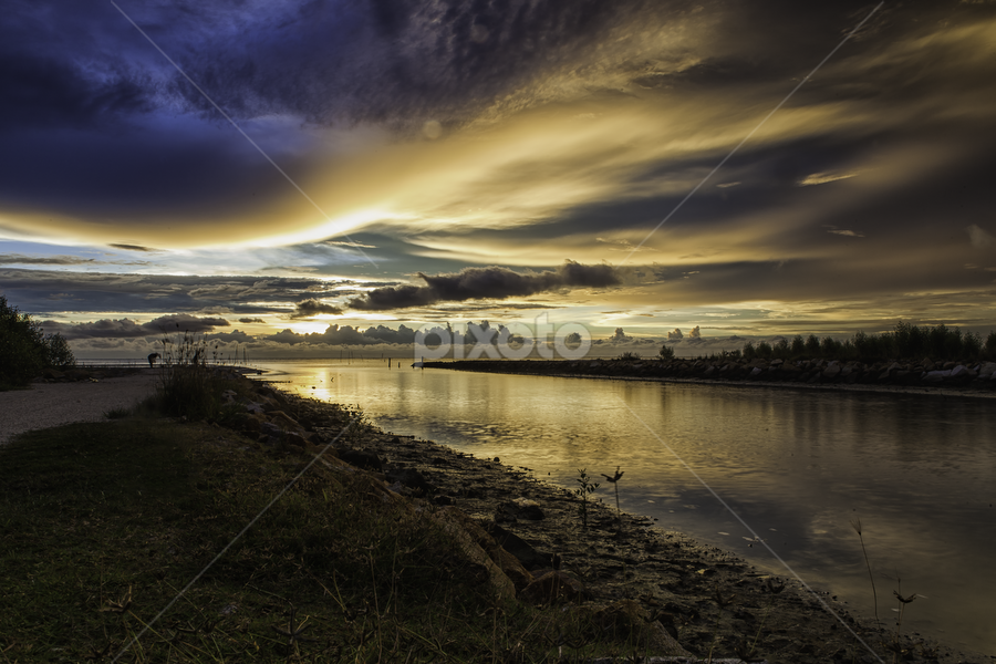 Bird River by P Hin Cheah - Landscapes Sunsets & Sunrises ( bird, sungai burung, sunset, scenery, river )