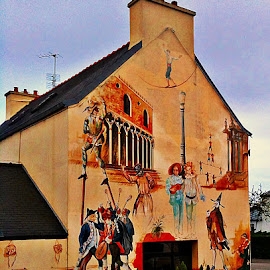 Wall by Dobrin Anca - Buildings & Architecture Other Exteriors ( painted, color, street, brittany, wall,  )