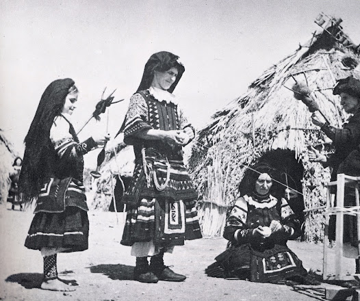 <b>The Sarakatsani people</b>  The Sarakatsani are a nomadic people of Greek origin living in Greece, southern Bulgaria and Macedonia (former Yugoslavia). They are Greek Orthodox Christians with their own distinctive traditions in dress, song, dance, and poetry.