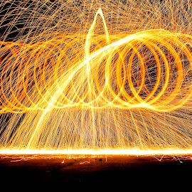 Fire Abstract by Ardhityan Tomi - Abstract Fire & Fireworks ( abstract, light painting, abstract art, art, fireworks, light, photography, fire )