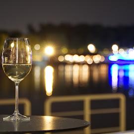 White night by Latchezar Bogdanov - Food & Drink Alcohol & Drinks ( wine, night, rivers, nightscape, city, city at night, street at night, park at night, nightlife, night life, nighttime in the city )