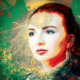 dream by Kathleen Devai - Digital Art People ( colour, dream, woman, fanntasy, colours )