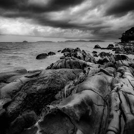 The Perfect Brew by Gerard Macorvick - Landscapes Weather ( thunderstorm, sea, weather, ocean, seascape, rocks, coastal )