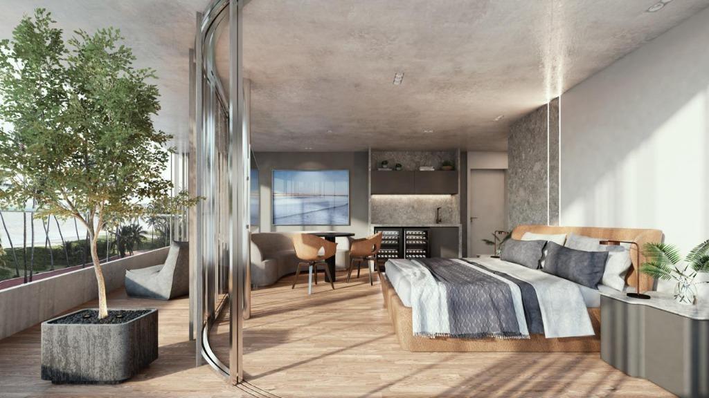 Flat com 1 dormitório à venda, 26 m² por R$ 379.000,00 - Cabo Branco - João Pessoa/PB