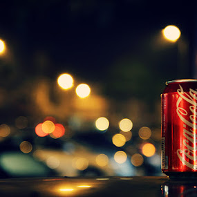 Cocacola by XeeShan Ch - Food & Drink Alcohol & Drinks ( coca cola, cola, cocacola, xeeshan, bokeh )