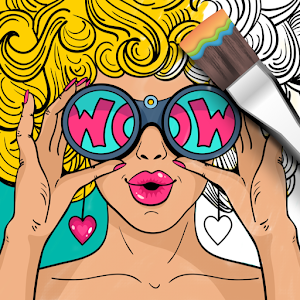 Girls Coloring Book Icon