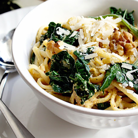 Butternut Squash Linguine with Kale {recipe & giveaway}
