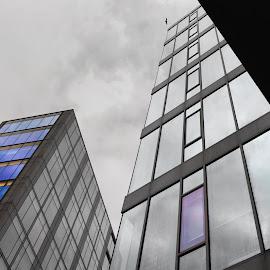 Looking up in dublin 5 by Paul Holmes - Buildings & Architecture Office Buildings & Hotels ( nikon d700, dublin, nikon 35mm f2 lens )